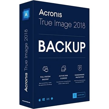 Acronis True Image 2018 CZ Upgrade pro 3 PC (elektronická licence) (TI3OU1LOS)