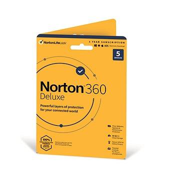 Norton 360 Deluxe 50GB CZ, 1 uživatel, 5 zařízení, 12 měsíců (karta) (21409796)