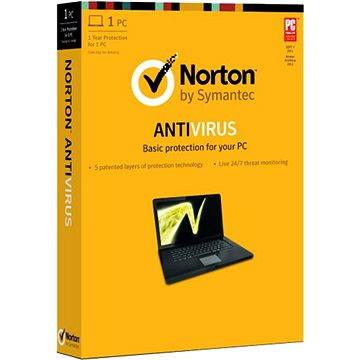Symantec Norton Antivirus Basic 1.0 CZ, 1 uživatel, 1 zařízení, 12 měsíců (elektronická licence) (21371132)