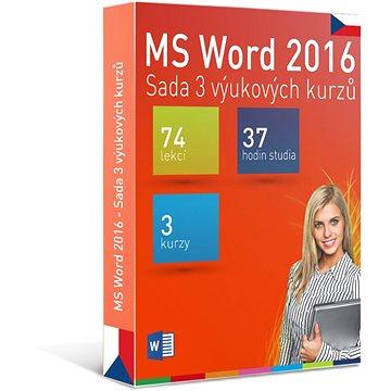GOPAS MS Word 2016 - 3 samostudijní výukové kurzy na 365 dní CZ (elektronická licence) (Word2016-365CZ)