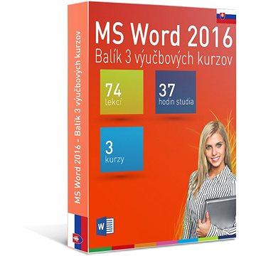 GOPAS MS Word 2016 - 3 samostudijní výukové kurzy na 365 dní SK (elektronická licence) (Word2016-365SK)