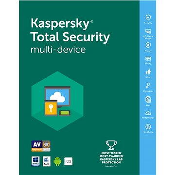 Kaspersky Total Security multi-device 2016/2017 pro 3 zařízení na 12 měsíců (KL1919OBCFS-RB) + ZDARMA Sluchátka s mikrofonem ASUS Cerberus Arctic