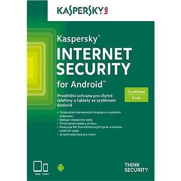 Kaspersky Internet Security pro Android pro 3 zařízení na 12 měsíců (KL1091OBCFS-CZ)