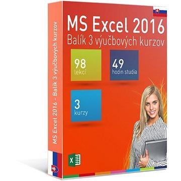 GOPAS MS Excel 2016 - 3 samostudijní výukové kurzy na 365 dní SK (elektronická licence) (Excel2016-365SK)