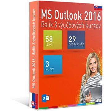 GOPAS MS Outlook 2016 - 3 samostudijní výukové kurzy na 365 dní SK (elektronická licence) (Outlook2016-365SK)