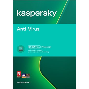 Kaspersky Anti-Virus 2018 obnova pro 1 počítač na 12 měsíců (elektronická licence) (KL1171XCAFR)