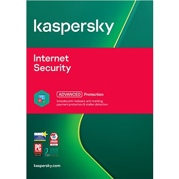 Kaspersky Internet Security multi-device 2017 obnova pro 2 zařízení na 12 měsíců (elektronická licen (KL1941XCBFR)
