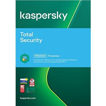 Kaspersky Total Security multi-device 2018 pro 1 zařízení na 12 měsíců (elektronická licence) (KL1919XCAFS)
