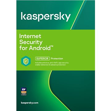 Kaspersky Internet Security pro Android CZ pro 1 mobil nebo tablet na 12 měsíců (elektronická licenc (KL1091XCAFSbin12)