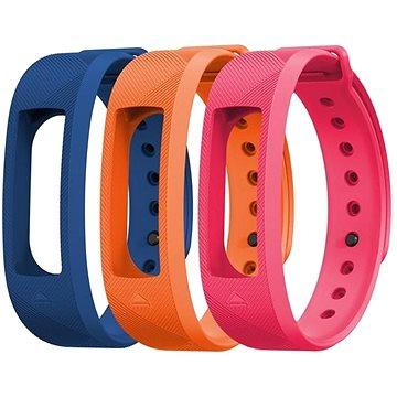 EVOLVEO FitBand B2 náramek modrý + oranžový + růžový (FTD-B2-RS2)