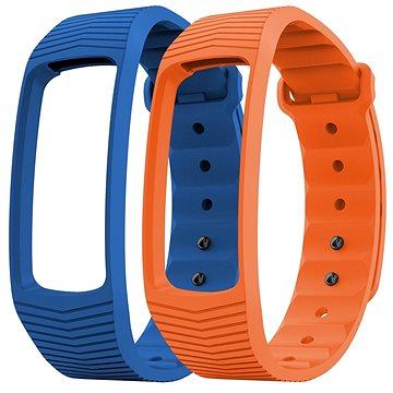 EVOLVEO FitBand B3 náramek modrý + oranžový (FTD-B3-RS2)
