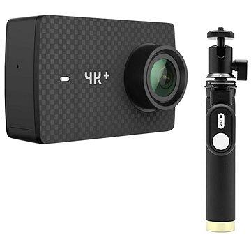 YI 4K+ Action Camera černá + YI Selfie Stick & YI Bluetooth Remote (BYI002)