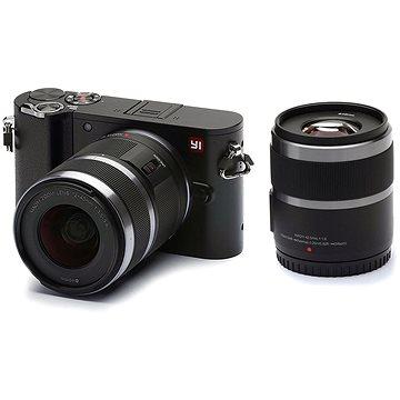 Xiaomi Yi M1 4K Mirrorless Camera Black + 12-40mm F3.5-5.6 + 42.5mm F1.8 (95013)