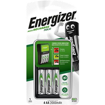 Energizer MAXI charger + 4x AA 2000mAh NiMH (EN006)