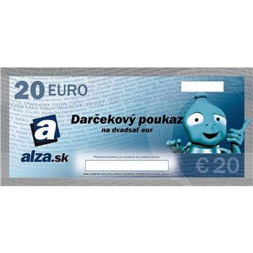 Darčekový poukaz Alza.sk na nákup tovaru v hodnote 20€