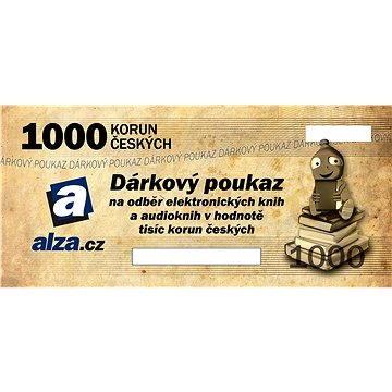Elektronický dárkový poukaz Alza.cz na nákup e-knih a audioknih v hodnotě 1000 Kč