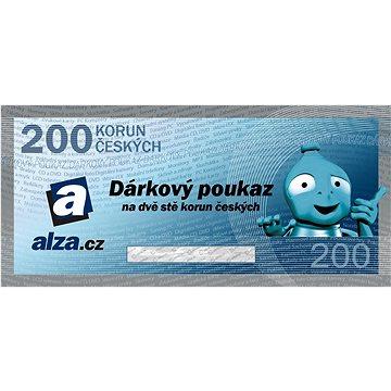 Elektronický dárkový poukaz Alza.cz na nákup zboží v hodnotě 200 Kč