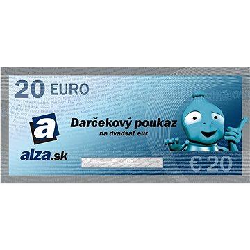 Elektronický dárkový poukaz Alza.sk na nákup zboží v hodnotě 20 €