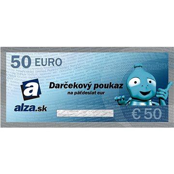 Elektronický dárkový poukaz Alza.sk na nákup zboží v hodnotě 50 €