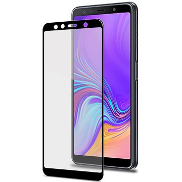 CELLY Full Glass pro Samsung Galaxy A7 (2018) černé (FULLGLASS795BK)