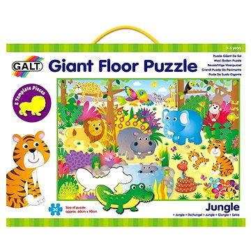 GALT Velké podlahové puzzle – zvířátka v džungli (5011979316936)