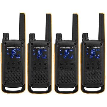 Motorola TLKR T82 Extreme, Quadpack, žlutá/černá (5031753007218)