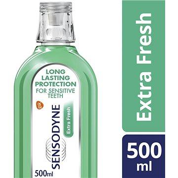 Sensodyne ústní voda Extra Fresh 500ml + ZDARMA Zubní pasta SENSODYNE Advanced Clean 20 ml