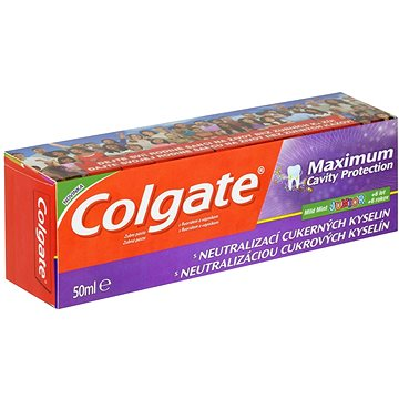 Zubní pasta COLGATE Maximum Cavity Protectino Junior 50 ml (8714789988580)
