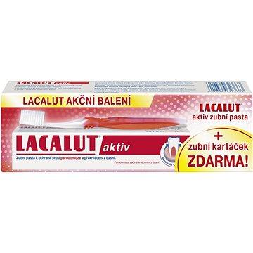 Zubní pasta LACALUT Aktiv 75ml + kartáček na zuby (4016369323663)