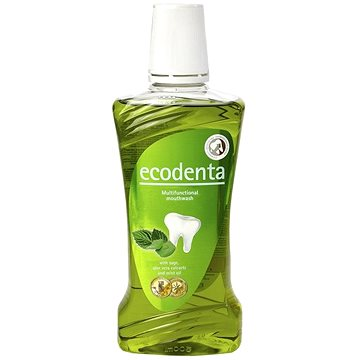 Ústní voda ECODENTA Multifunctional mouthwash with sagge and aloe vera extracts, and mint oil 480 ml (4770001331811)