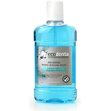 Ústní voda ECODENTA EXTRA Refreshing mouthwash with hyaluronic acid, mint and peppermint oil 500 ml (4770001336267)