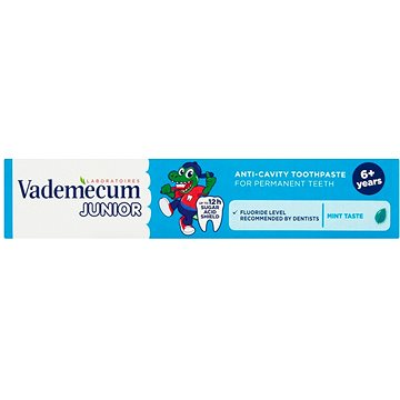 Zubní pasta VADEMECUM Junior Fresh Mint Flavor 75 ml (9000100993609)