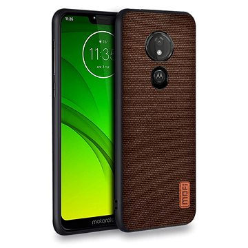 MoFi Fabric Back Cover Motorola G7 Power Hnědé (OEYX1748brown)