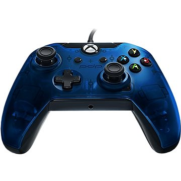 PDP Deluxe Wired Controller - Xbox One - modrá kamufláž (708056064679)