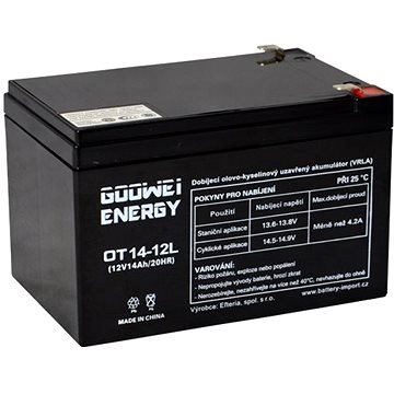 GOOWEI ENERGY OTL14-12, baterie 12V, 14Ah, DEEP CYCLE (OTL14-12)