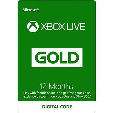 Xbox Live Gold - 12 měsíční členství (S4T-00019)
