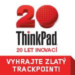 thinkpad slaví 20 let, získejte pamětní zlatý trackpoint